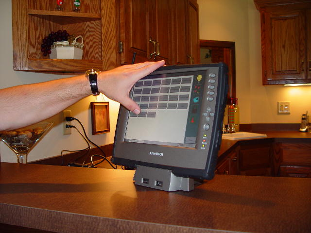 Touch screen controler for house
